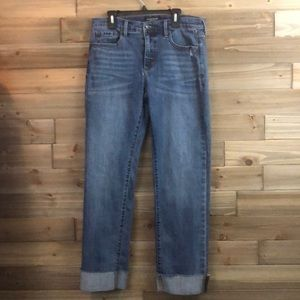 Banana Republic raw hem Girlfriend jeans Size 29